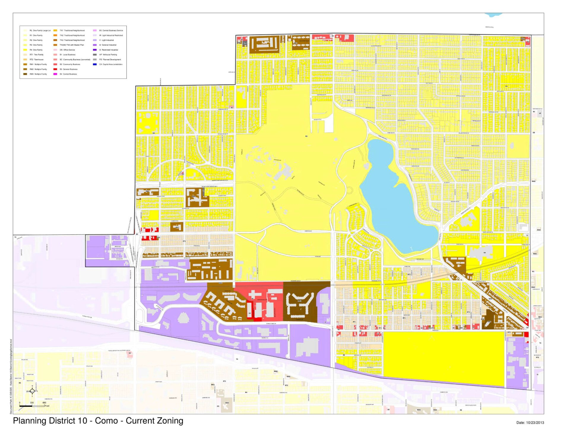 District 10 Zoning Map