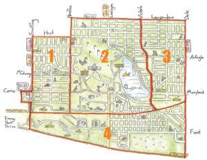 District 10 Sub-District Map
