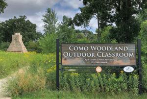 Como Woodland Outdoor Classroom Sign Fireplace CWOC